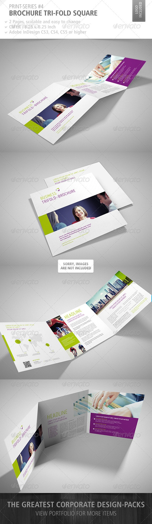 Brochure Tri-Fold Square Print-Series #4 - Corporate Brochures @Treefrog Marketing