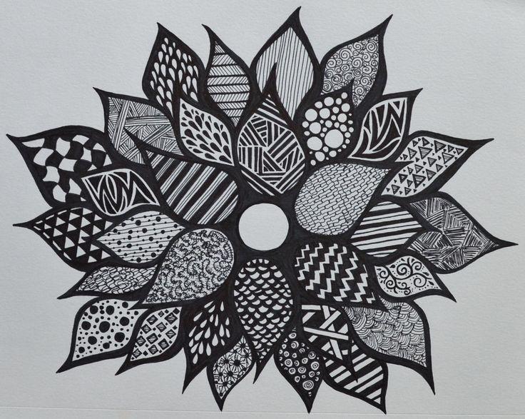 sharpie drawings doodles marker zentangle flower flowers easy cool draw patterns designs google beginners fun drawing sf sharpies pattern colorful