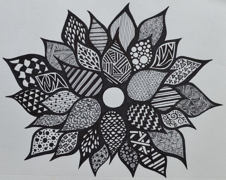Sharpie flower - zentangle - SF