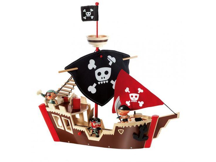 Djeco - Arty Toys Pirates - Ze pirat boat #djeco #artytoys #pirate #bateau #jouet #jeux #enfants #bébé
