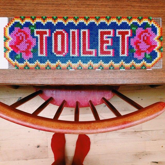 Toilet sign hama beads by roserossum
