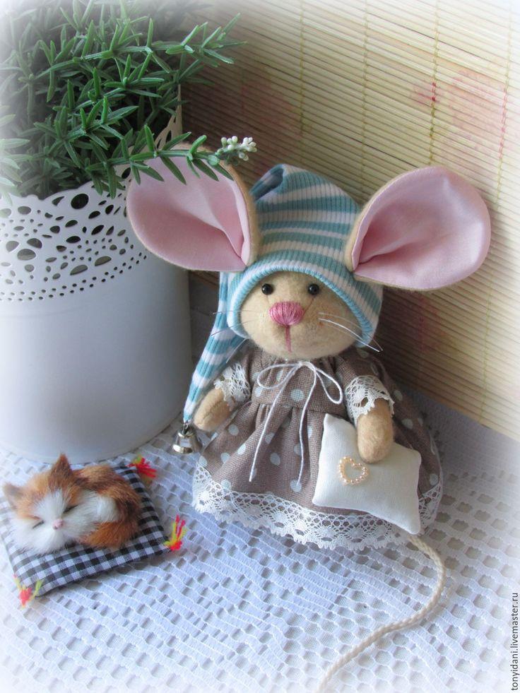 Купить Мышка - малышка Спокойной ночи - мышка, мышь, мышонок, мышки, мышка игрушка, мыши