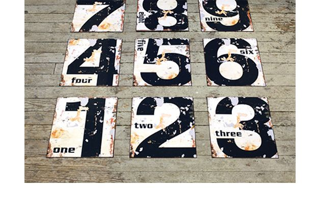antique styled numbers by Antique Farm House (store):