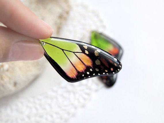 Giglio tropicale farfalla orecchini fata gioielli di TomkaStore