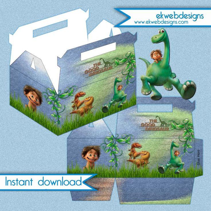 Disney The Good Dinosaur Birthday Party favor box - Instant download