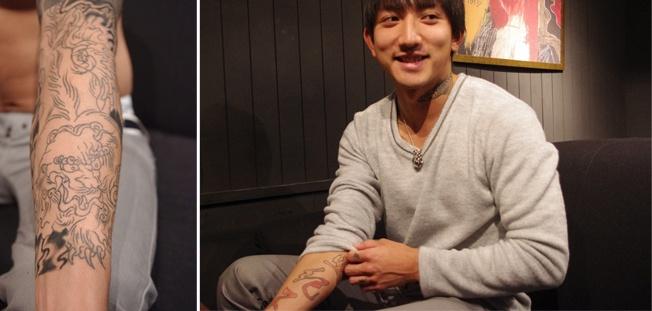 腕のタトゥー