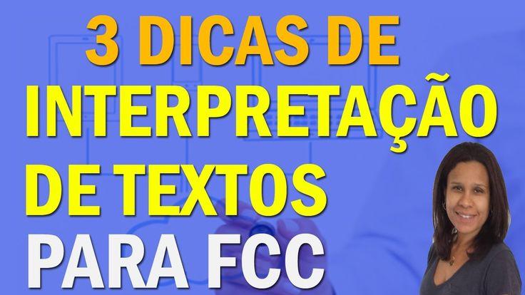 3 Dicas de Interpretação de Textos   Fundação Carlos Chagas   FCC