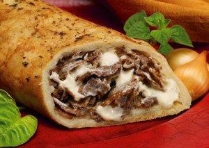 Ingredients  1 pound beef rib steak, sliced thin Salt and freshly ground black pepper All-purpose flour, for rolling dough