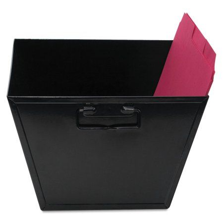 Advantus Steel File and Storage Bin, Letter, 12 1/8 x 11 1/4 x 7 3/8, Black