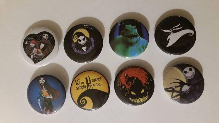 Excited to share the latest addition to my #etsy shop: 8 - 1 1/4 inch Nightmare Before Christmas buttons New! http://etsy.me/2CpPERl #jewelry #halloween #fantasyscifi #no #unisexadults #plastic #spooky4u2