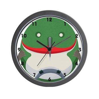 Cartoon Hummingbird Wall Clock from cafepress shop: AG Painted Brush T-Shirts. #clock #hummingbird #cute