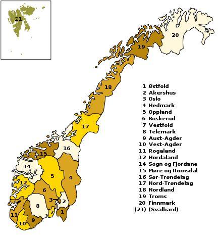 Fylki í Noregi