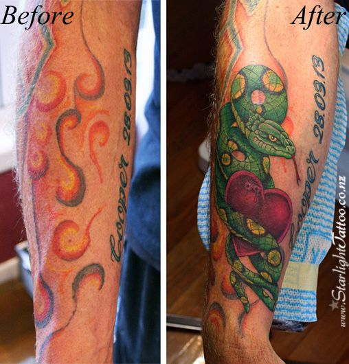 Tattoo Repairs and Cover ups by Starlight Tattoo Studio