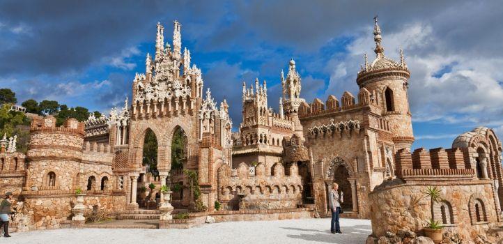 Colomares Castle In Benalmadena  M U00e1laga  Espa U00f1a