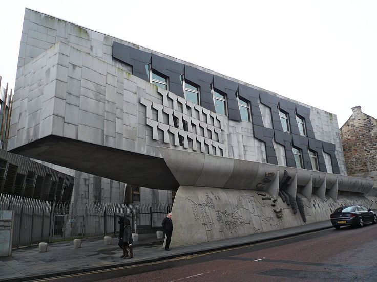 Canongate Wall - Scottish Parliament Building - Wikipedia, the free encyclopedia