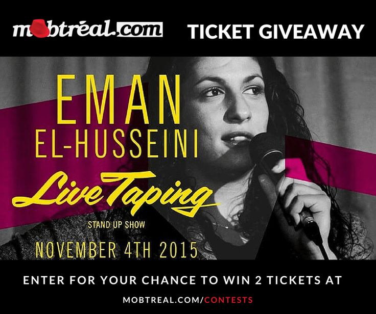 #Win tickets to see @Emantertainment live at @ClubSodaMtl, November 4th 2015. Enter at Mobtreal.com