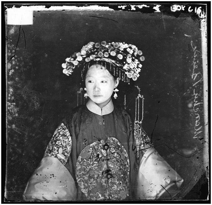 Manchu bride in China, 1871. Photograph by John Thomson.