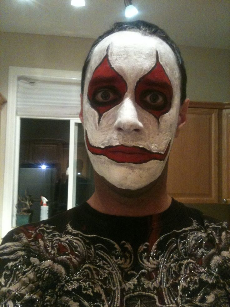 Scary clowns, Scary clown makeup and Halloween on Pinterest Simple Clown Makeup Men