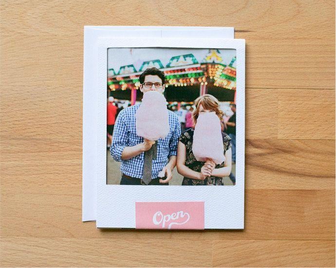 So awesome. Wedding Invitation Set - Vintage Polaroid Wedding Invitation. via Etsy.