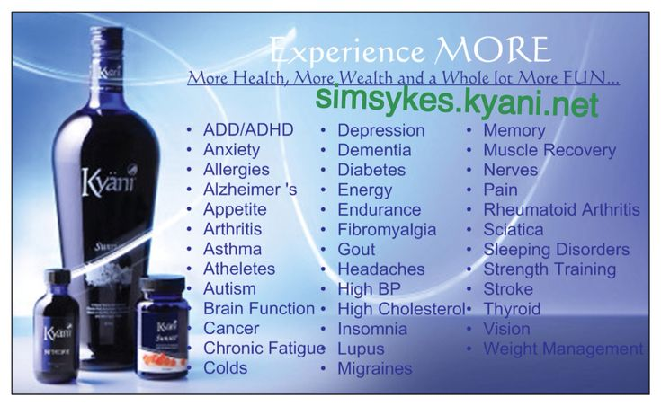 A list of some of the ailments Kyani can help. Simsykes.kyani.net ...