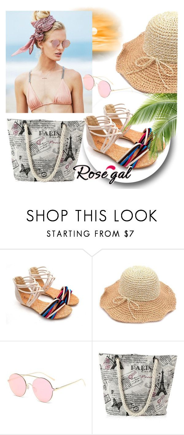 """""""// Rosegal // I/51"""" by eminajamakovic ❤ liked on Polyvore featuring Beach Riot"""