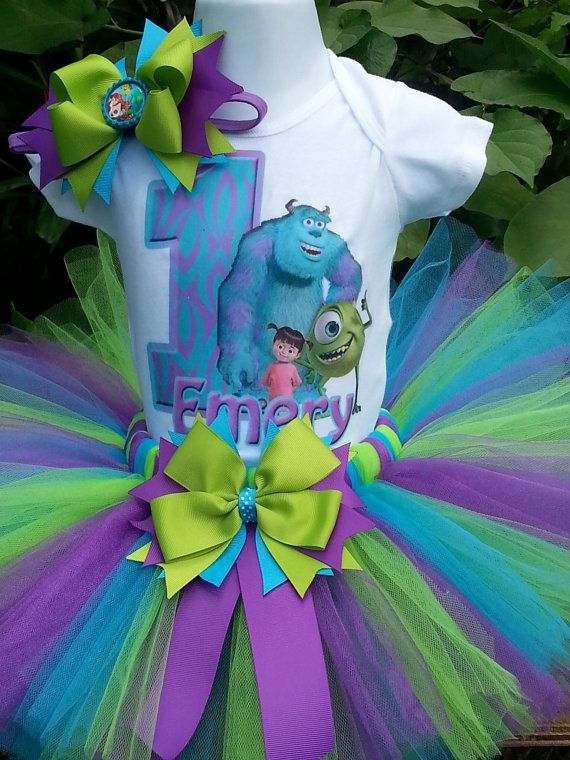 Handmade Monster Inc inspired tutu set Monster by Partyadvantage
