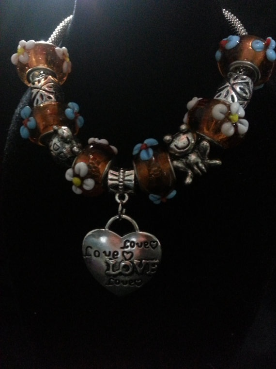 European Bead Charm Bracelet by CavettaCreations on Etsy, $15.00