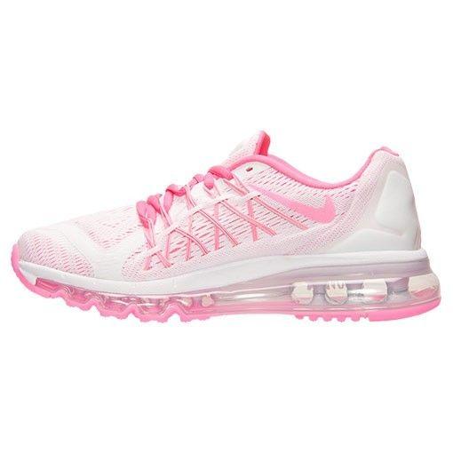 Nike Air Max 2015 (GS) Womans Running Shoes White/Pink Pow/Metallic