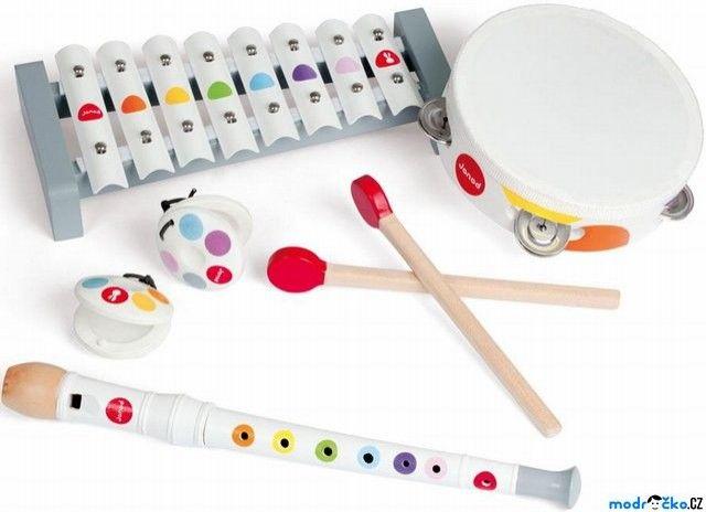 Hudba - Muzikální set, 4 nástroje (Janod) | Janod - Modroočko.cz