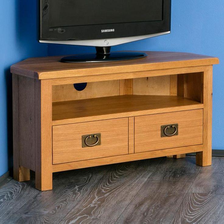 Surrey Oak Corner TV Stand