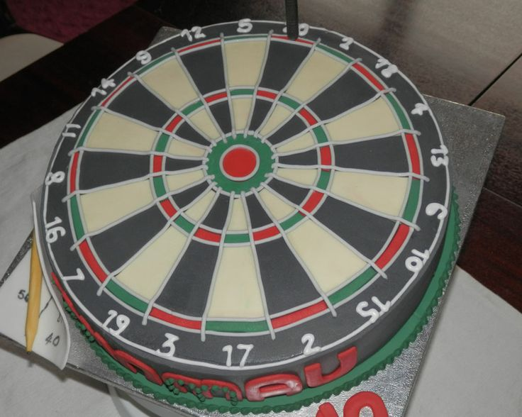 #DartBoard Cake......................................... Orders taken at Crumbs of Joy OR Simple Email Us through our website ......... CHECK IT OUT there is more amazing sugar work on facebook see you over there.