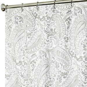 paisley print fabric shower curtains
