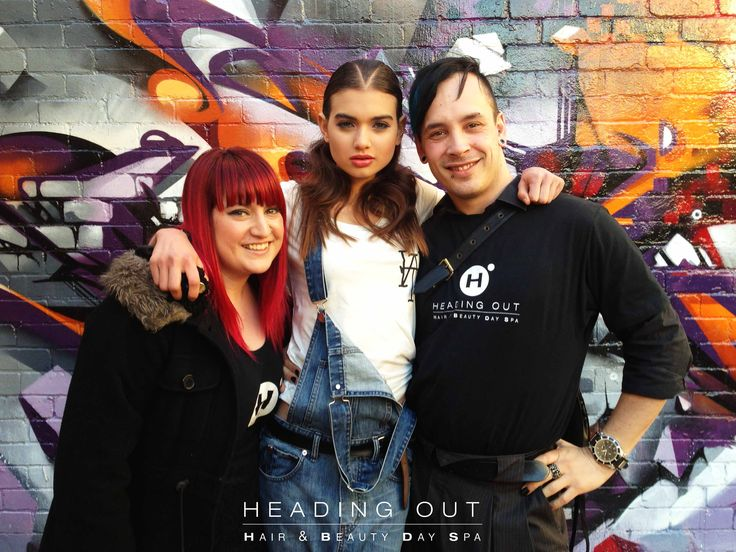 HOHB's Kieran  Chantelle with Melbourne model, Paris Roberts, at the 2013 City of Stonnington Fashion Parade yesterday. Great job guys! #hohb #headingout #fashion #parade #parisroberts #Melbourne #stonningtonfashionparade #hair