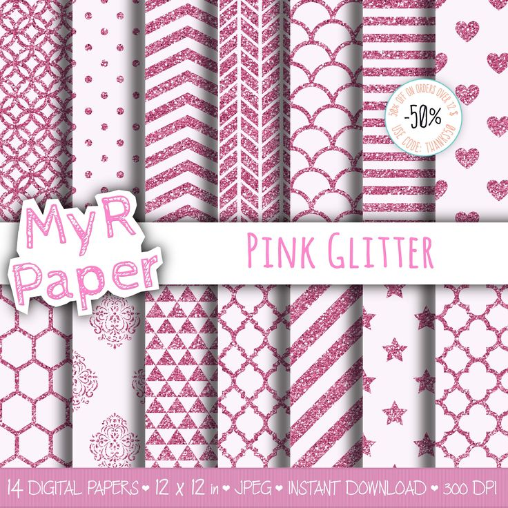 """With #love by @myrpaper #pinkdigitalpaper #pinkdigitalpaper #pinkglitter #pinkbackground #pinkparty #pinkinvitation #glitterdigital  #digitalpaper #digitalbackground #luxurybackgrounds #abstractpattern #glamourbackground #pasteldigitalpaper Glitter Backgrounds digital paper: """"Pink Glitter"""" scrapbooking - pastel - perfect for Baby Shower, invites, cards - Instant Download"""