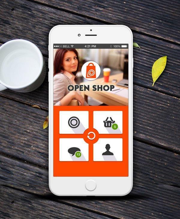 E-Commerce App UI PSD for Android Lollipop