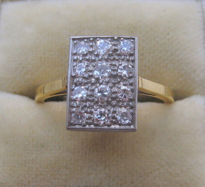 2.20 Ct Vintage Style Diamond Engagement Ring Bridal Band 18K Solid Yellow Gold…