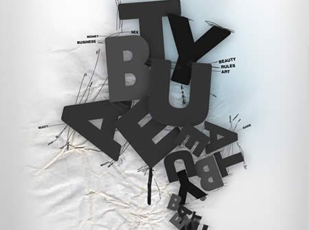 textart4 Typographic Posters and Photoshop Effects Tutorials