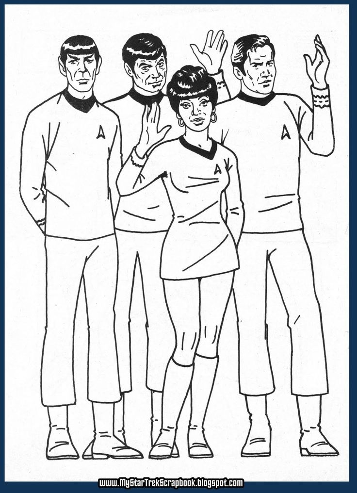 Star Trek Coloring Pages in 2020 (With images) Star trek