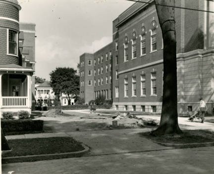 Looks like ongoing construction is a long time tradition at St. Rose!  Photo credit:http://strosearchives.contentdm.oclc.org/cdm/singleitem/collection/p16074coll6/id/144/rec/80