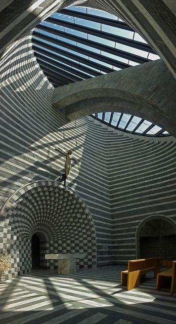 Church San Giovanni Battista in Mogno - Ticino, Switzerland :: Architect Mario Botta