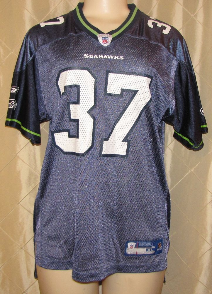 newest b0b17 d168d seattle seahawks 37 shaun alexander blue throwback jersey