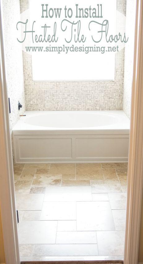 Best 25 Heated Tile Floor Ideas On Pinterest Heated Bathroom Floor Heated Floor And Wood
