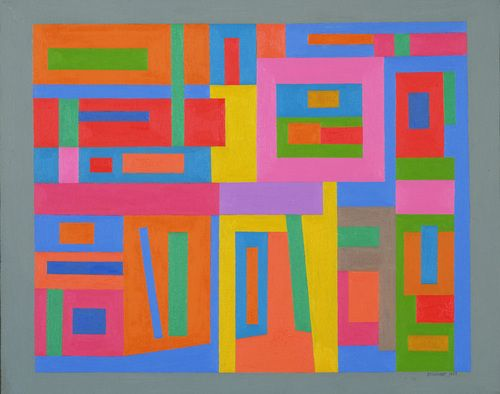 "Untitled  Ad Reinhardt (American, 1913-1967)    1938. Oil on canvas, 16 x 20"" (40.6 x 50.8 cm). Gift of the artist. © 2012 Estate of Ad Reinhardt / Artists Rights Society (ARS), New York"