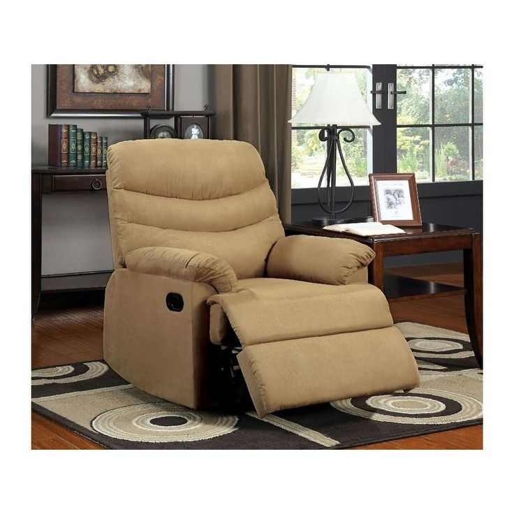 Benzara Plesant Valley Transitional Recliner Chair With Microfiber, Multicolor, Multi Color, Size Standard (Polyester)