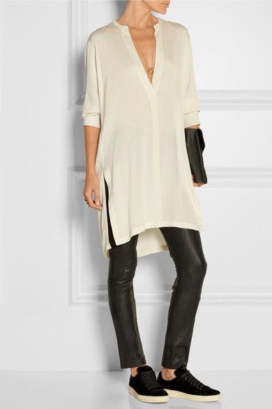 Helmut Lang | Stretch-silk tunic | NET-A-PORTER.COM #stylingmrsoliver.com