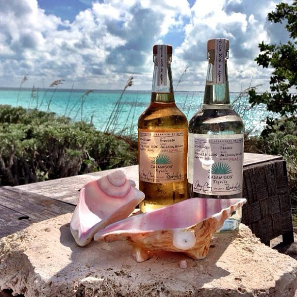 The bar is open at Baker's Bay in The Bahamas with our founders Rande Gerber, George Clooney, and Mike Meldman.