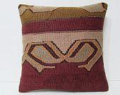 brown pillow case 18x18 brown kilim pillow brown pillow cover brown cushion cover brown throw pillow brown decorative pillow brown rug 22187