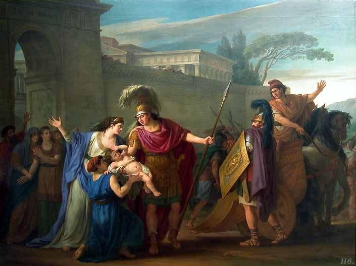 Farewell Of Hector And Andromache Joseph Marie Vien
