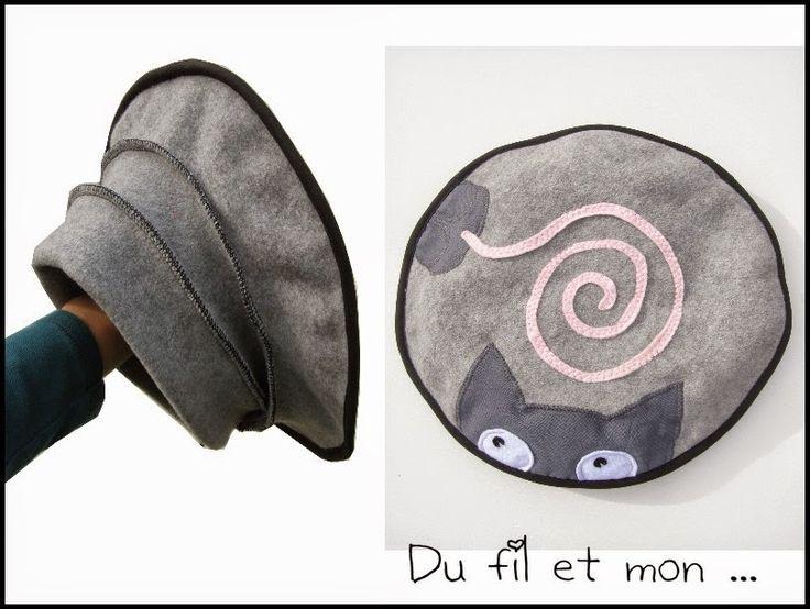 Du fil et mon...: Béret Chat Souris