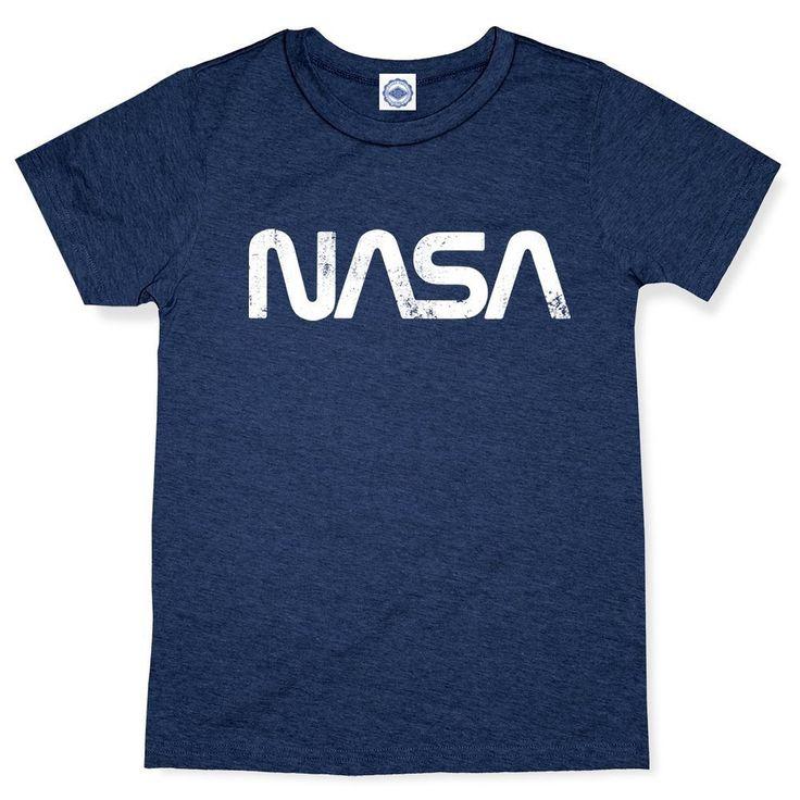 Hank Player 'NASA Retro Worm Logo' Men's T